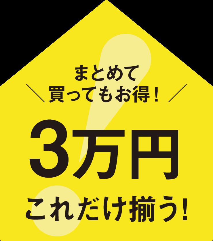 [ 新生活2020 ] 3万円でまとめて揃う!