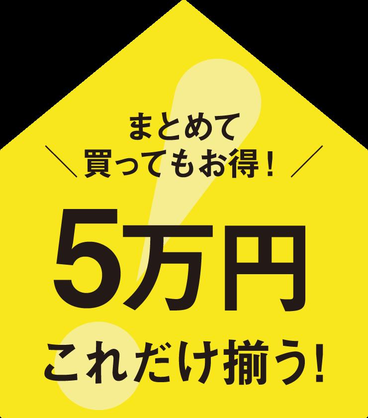 [ 新生活2020 ] 5万円でまとめて揃う!