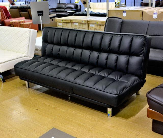 ソファ・カウチソファ・ベッドの3パターンで使えるソファベッド!ポコポコと程よい弾力のあるクッションで座り心地抜群!急な来客時のセカンドベッドとしても便利!