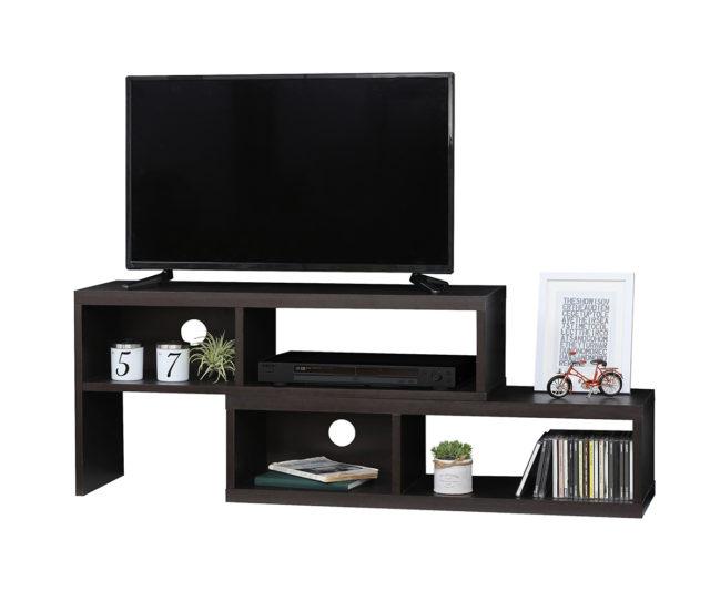 伸縮タイプのテレビボード!お部屋の角にも収まるので置き場所に困りません!40V型まで対応可。