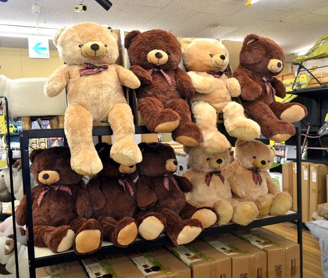 か、かっ可愛い!癒される!思わずギューッと抱きしめたくなるクマのぬいぐるみはこれからのクリスマスや誕生日などお子様への贈り物にピッタリ!肌触りもふわふわでボリューム感◎抱きまくらとしてもオススメ♪