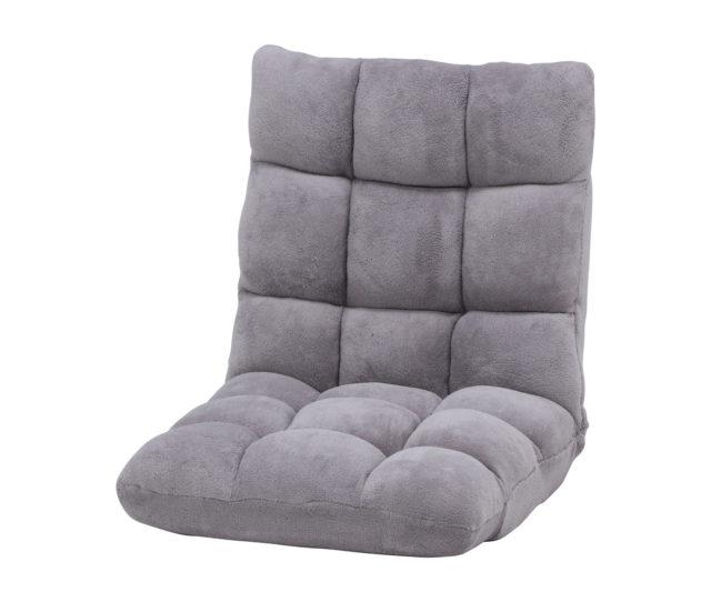 <値下げ>冬にピッタリ!ふわふわな肌触りと、もこもこした形が可愛らしい座椅子が値下げ!背もたれは42段階角度調整ができます。