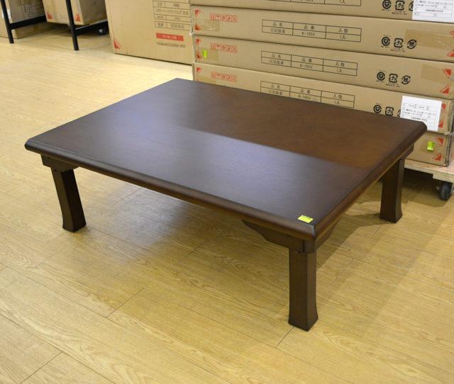 幅105cm座卓がこの価格!天然杢の木目を生かした落ち着いたデザインなので、フローリングの洋室にも、畳敷きの和室にも◎折りたたみ式で使わない時の収納も場所を取らず簡単です。