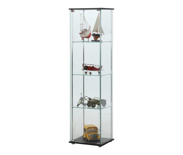 自慢のコレクションを大切に保管&鑑賞できるガラスコレクションケース。360度どの角度からでも見える全面ガラスタイプでお部屋を広く見せる効果があります。フィギュアやワインや器・食器の展示にも◎